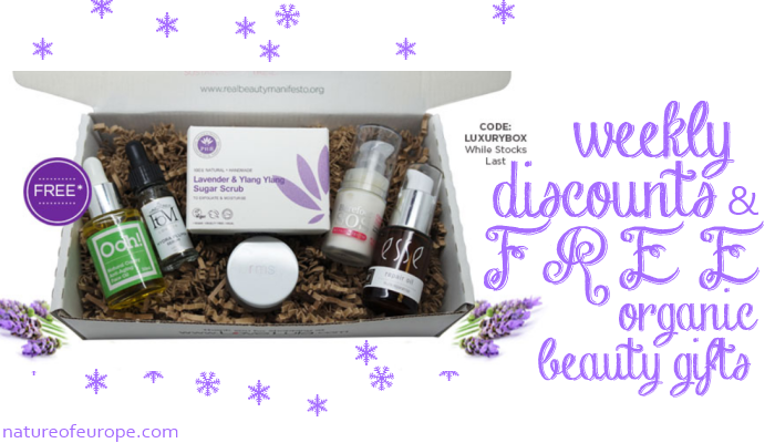 Weekly discounts and free organic beauty gifts 60