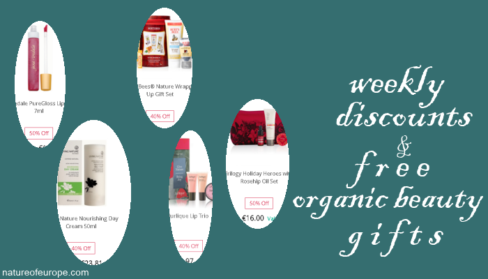 Weekly Discounts and Free Organic Beauty Gifts #61