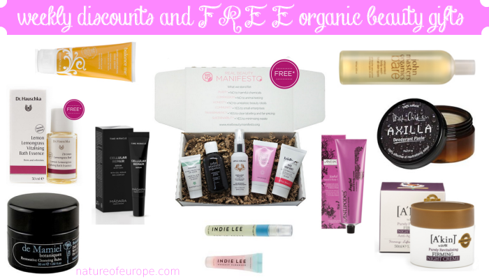 Weekly Discounts and Free Organic Beauty Gifts #62