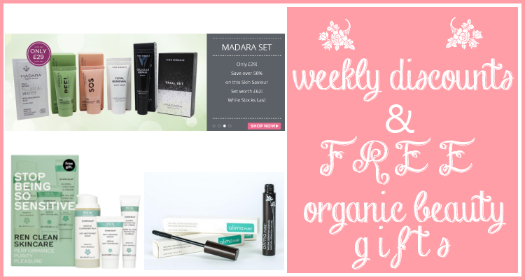 Weekly Disxounts and Free Organic Beauty Gifts #63