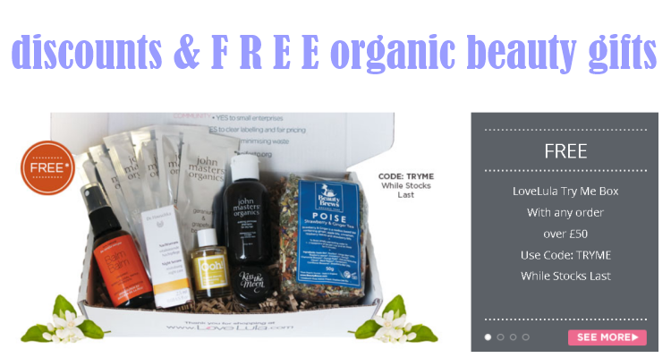 Weekly Discounts and Free Organic Beauty Gifts #66