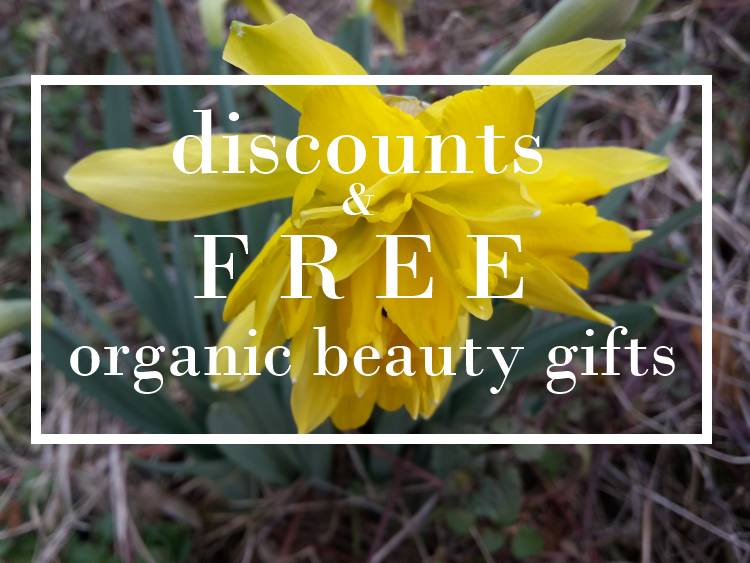 Weekly Discounts and FREE organic Beauty Gifts #76