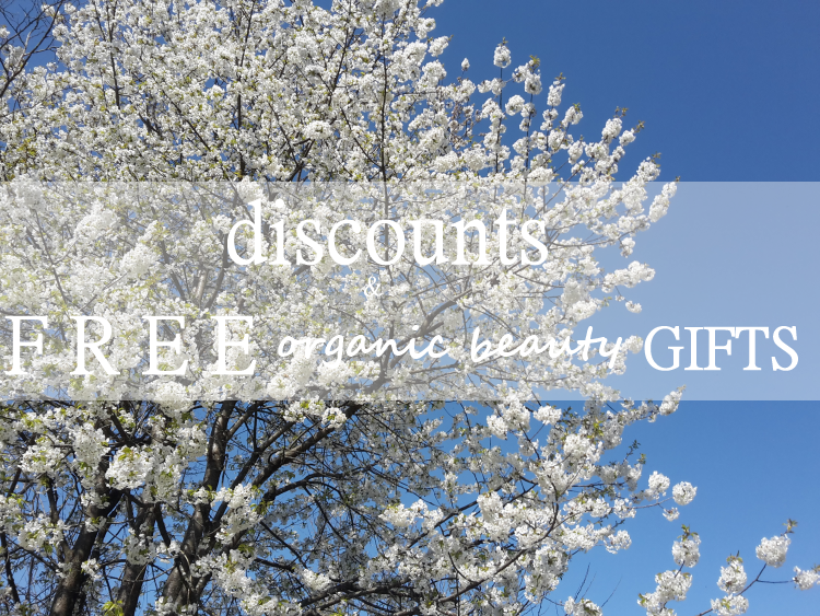 Weekly Discounts and Free Organic Beauty Gifts #74