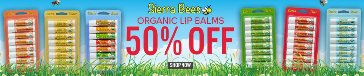 Sierra Bees Lipbalms 50% off