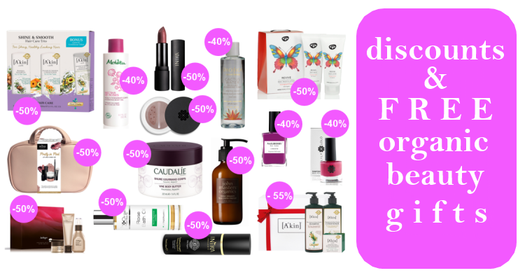 Weekly Discounts and FREE Organic Beauty Gifts #83