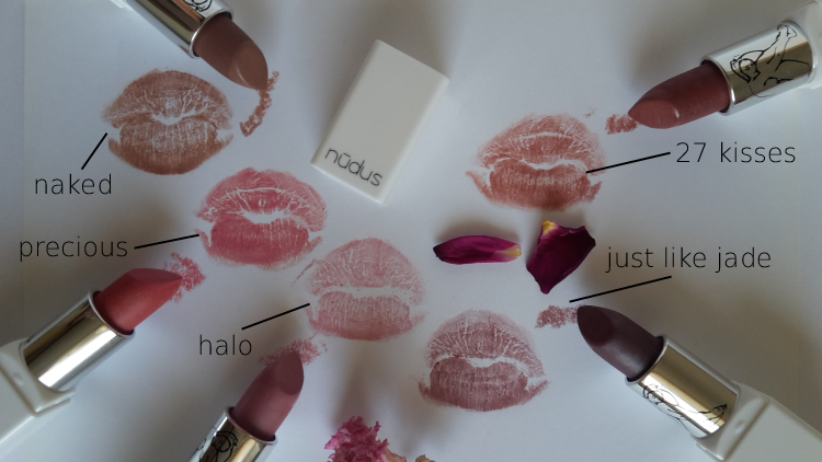Nudus Lipsticks Swatches