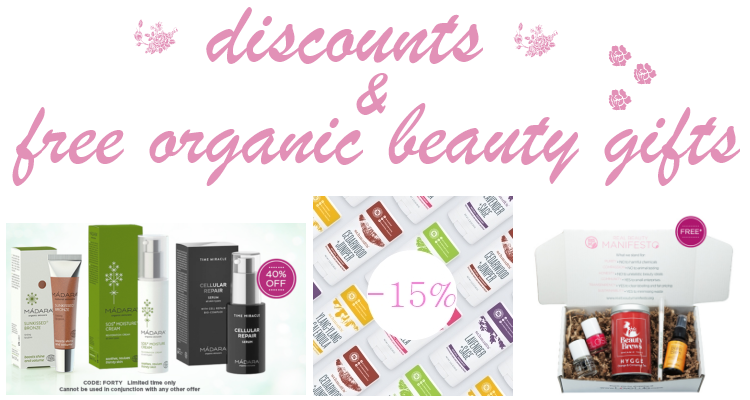 Weekly Discounts and Free organic Beauty Gifts #88