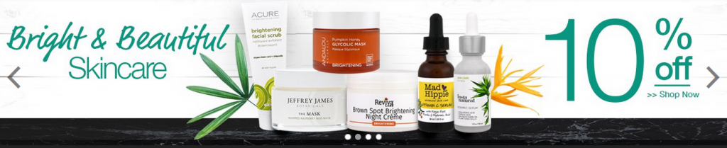 IHerb 10% off on brightening skincare products