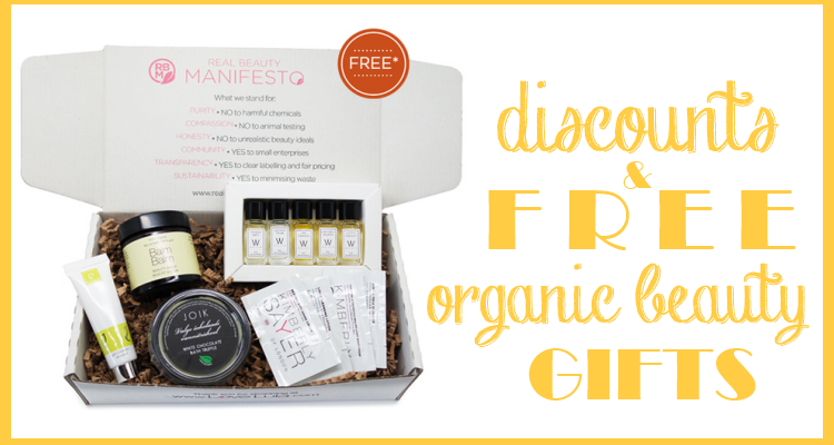 Weekly Discounts and FREE Organic Beuaty Gifts #94