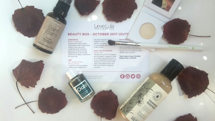 Love Lula Beauty Box October 2017