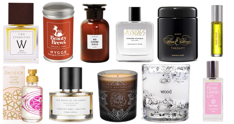 Green Beauty Holiday Gift Guide 2017 Fragrance, Candles, Tea