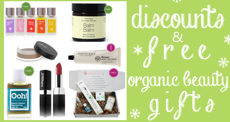 Weekly Discounts and FREE Organic Beauty Gifts #96