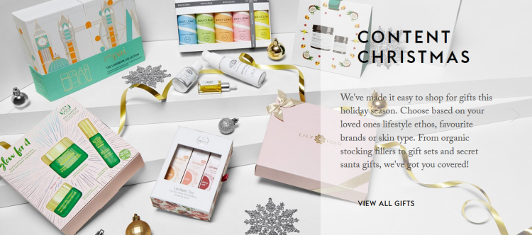 Content Beauty Christmas Shop