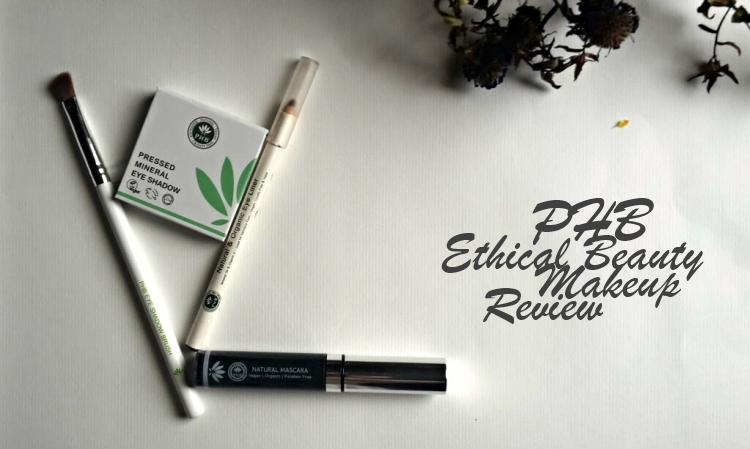 PHB Ethical Beauty Mascara, Eyeliner and Eye Shadow Review