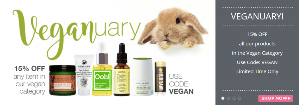 15% off on vegan products