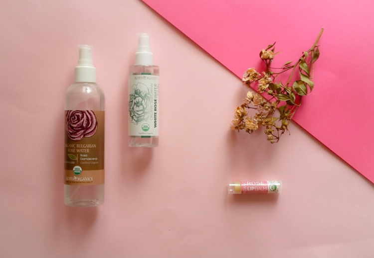 Alteya Organics Rose Water Spray and Rose Lip Balm Review