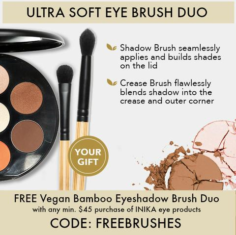 FREE Inika Eye Shadow Brush Duo