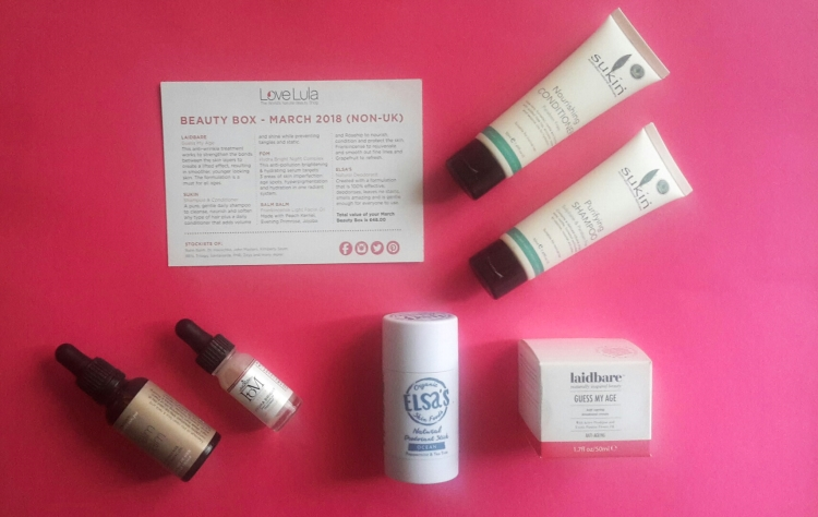 Love Lula Beauty Box March 2018