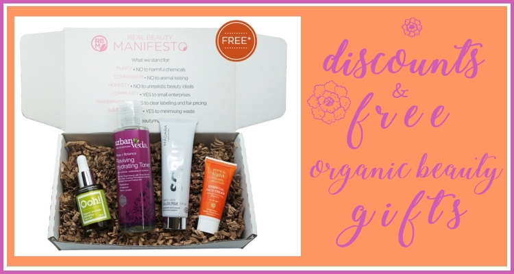 Weekly Discounts and FREE Organic Beauty Gifts #108