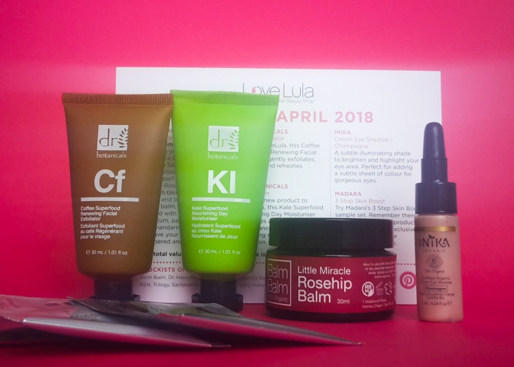 Love Lula Beauty Box April 2018
