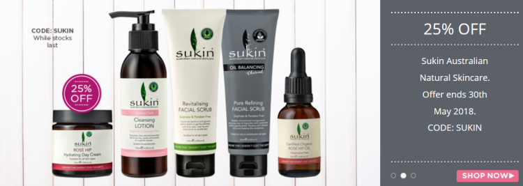25% off on Sukin