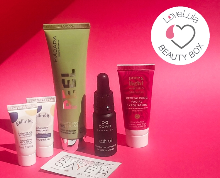 Love Lula Beauty Box August 2018