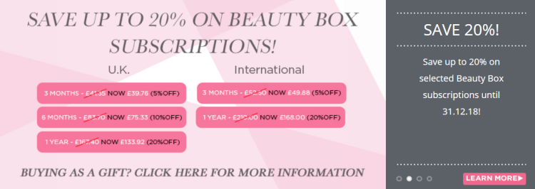 20 off on Love Lula Beauty Box